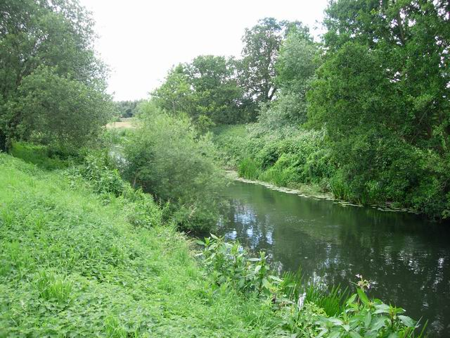 River Lugg by Marden Church