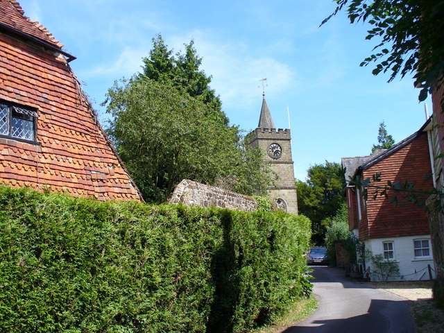 Lane to the Church at Northchapel.