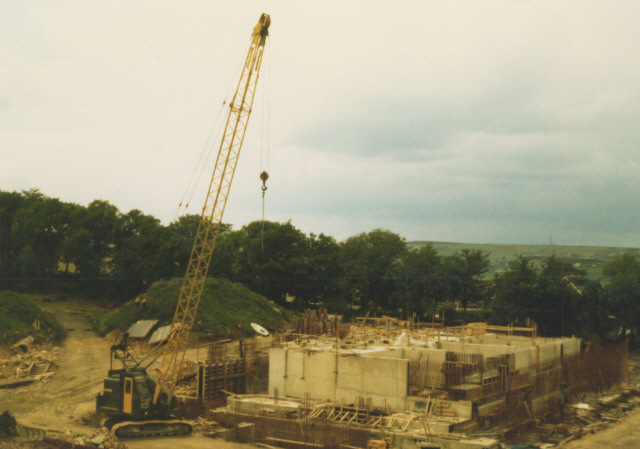 Constructing the new treatment works