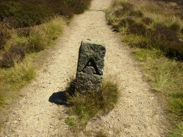 A boundary stone on the Cleveland Way