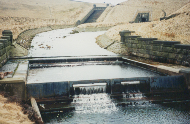 Compensation weir, Green Withens Reservoir