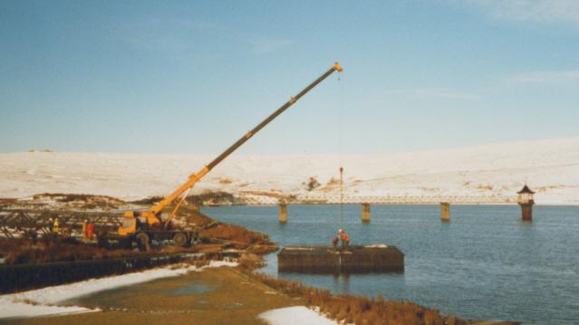Bridge replacement, Barden Upper Reservoir