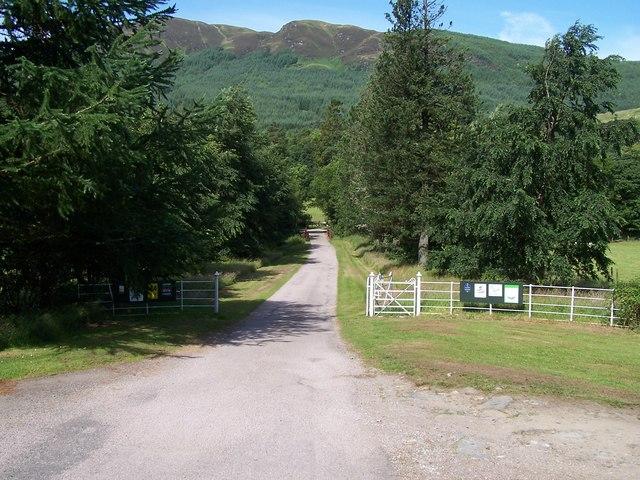 Glendaruel, Road to Glendaruel Caravan site