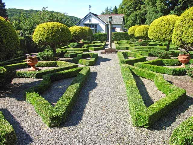 The Dutch garden, Graythwaite Hall