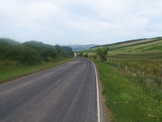 Glendaruel, Road down to Loch Fyne