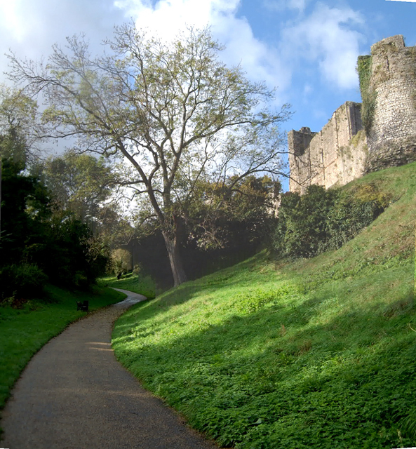 View up Castle Dell, Chepstow