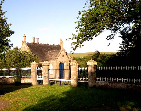 The unused entrance to Cromarty House