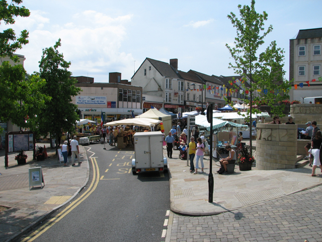 Continental Market in Beaufort Square, Chepstow