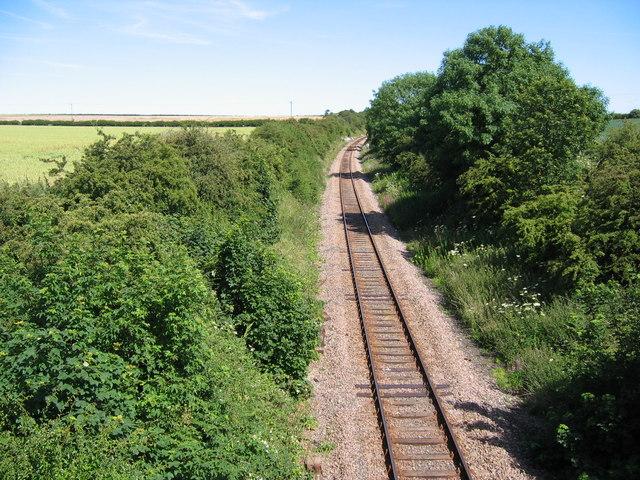 View from Burton Lane Bridge