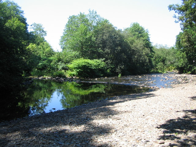 Pebble beach on the River Tavy