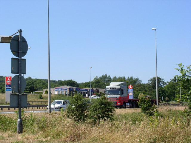 Service Stop on the A55