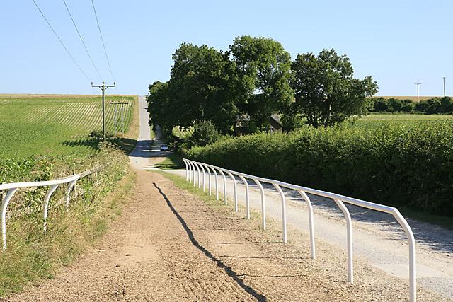Track passing Northayes Farm, looking towards Whitsbury