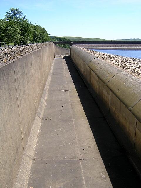 Spillway at Kielder Water