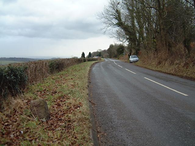 Milestone at Bullyhole Bottom - 6 Miles to Chepstow