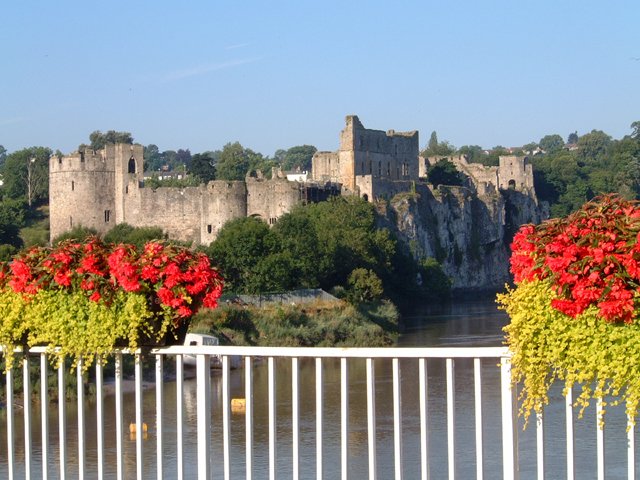 Chepstow Castle from the 1816 Bridge