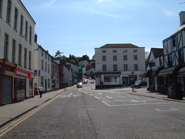 Moor Street, Chepstow, from the Town Gate