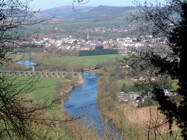 Monmouth from Livox Wood