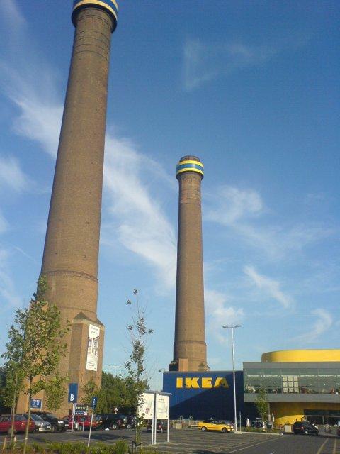 Old Power Station Chimneys