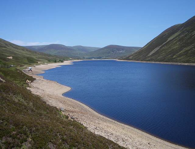 View along Loch Garry