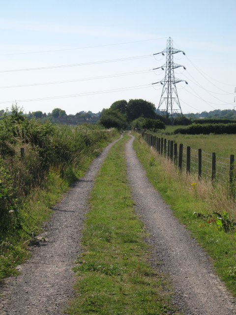 Disused railway line converted to cycle track