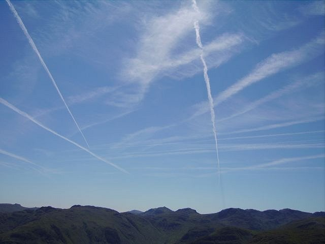 Contrails over the Lake District
