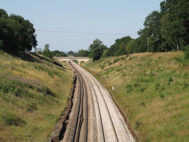 Railway line at Chippenham