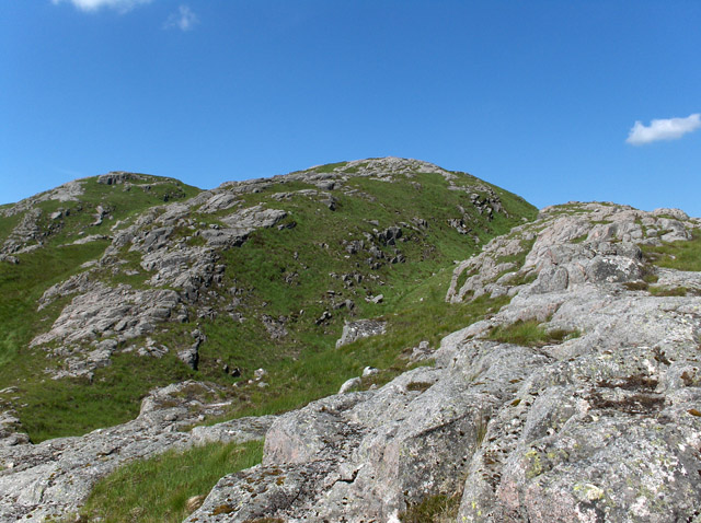 East ridge of Beinn nan Aighenan