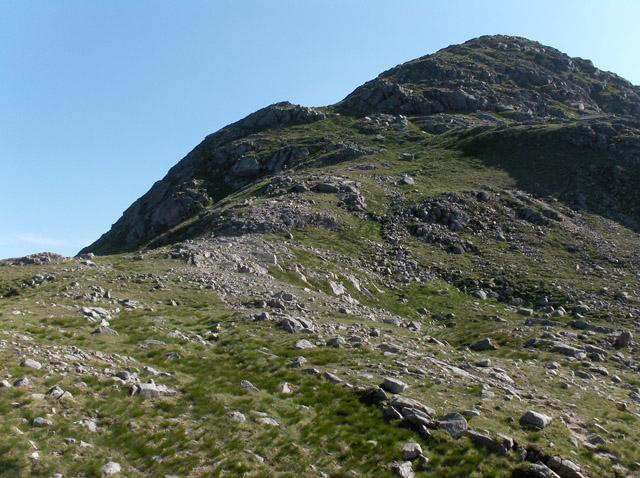 East ridge of Glas Bheinn Mhor