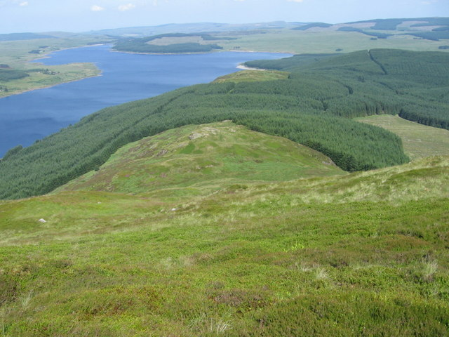 The northern slope of Black Craig