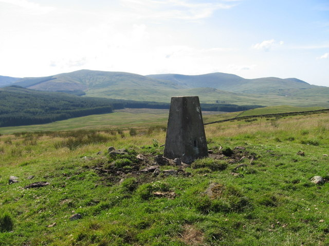 Trig point S8313 on Bardennoch Hill
