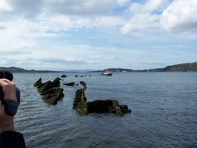 Wreck of the Port Napier in Loch Alsh