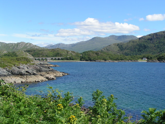 Railway viaduct at Loch nan Uamh