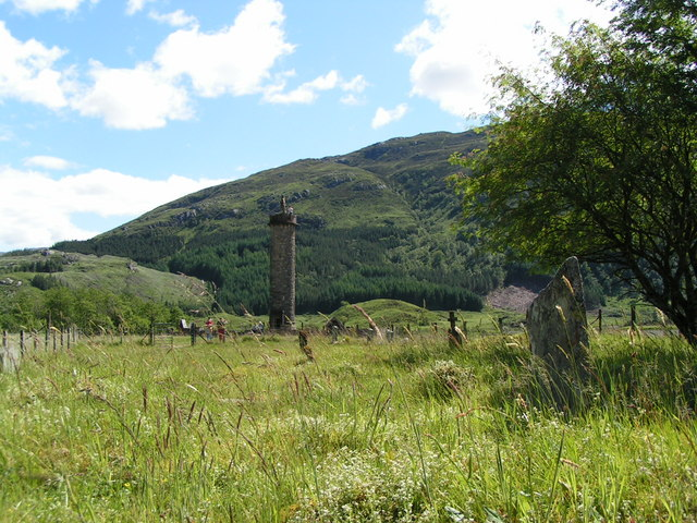 Glenfinnan Monument viewed from the Graveyard