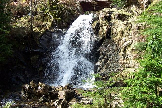 Waterfall near Llyn Crafnant