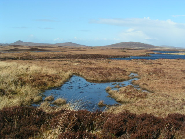 Looking north from the old section of Lochmaddy to Clachan road near Loch Scadavay