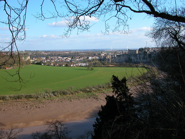 View over Chepstow from the Alcove
