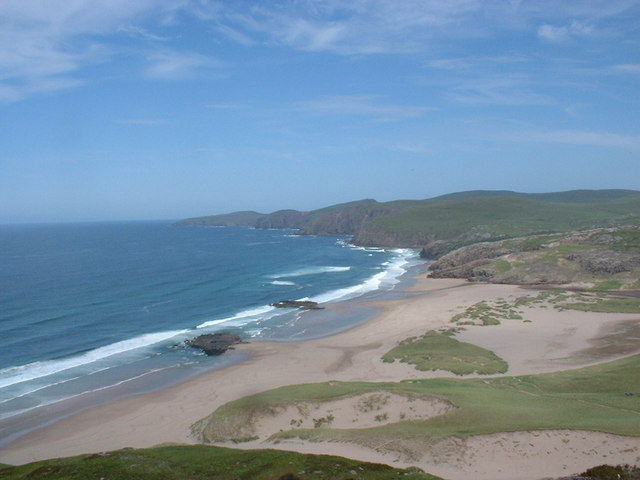 Sandwood Bay from south cliffs.