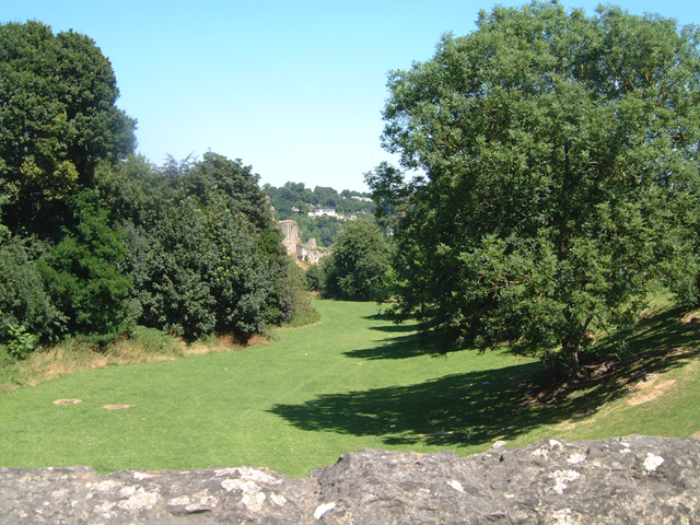 The Dell and Chepstow Castle from Welsh Street