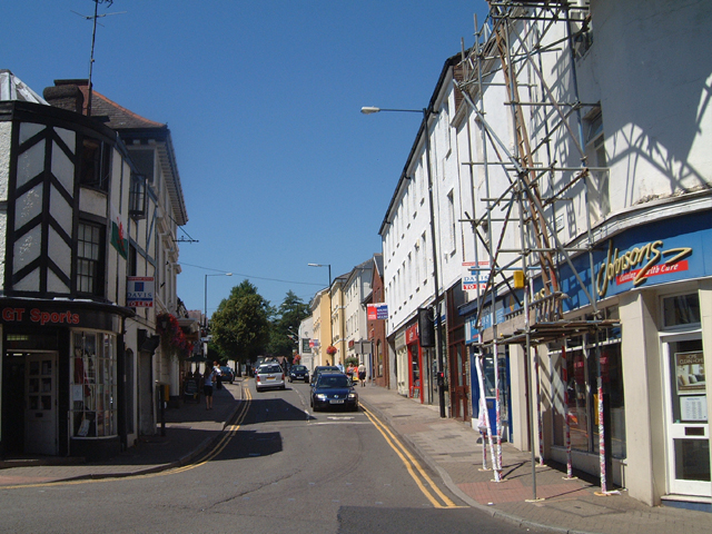 Welsh Street, Chepstow from the Town Arch.