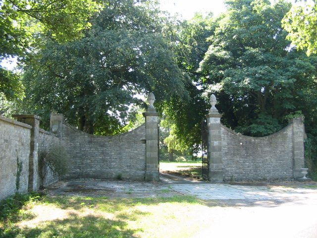 The middle entrance gate of three at Riseborough Hall