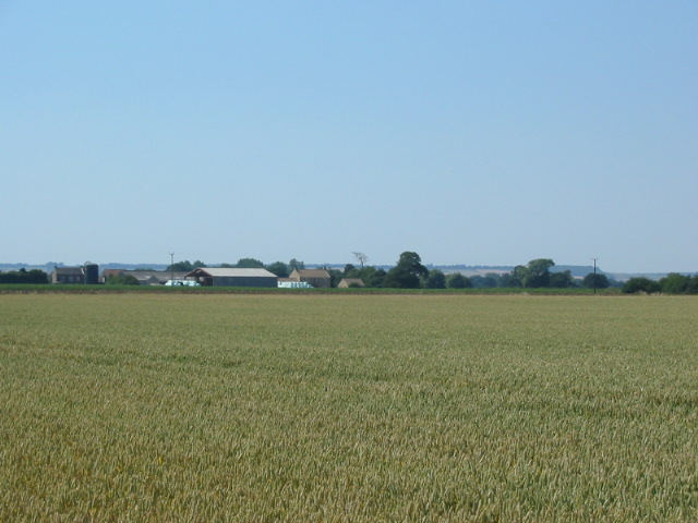 View of Hobground (Farm) over arable land