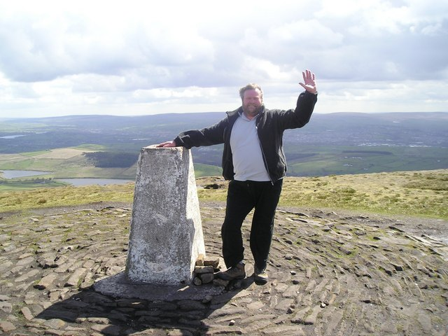 Kevin at Trig Pendle Hill