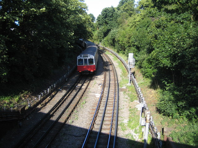 District Line railway in Ealing