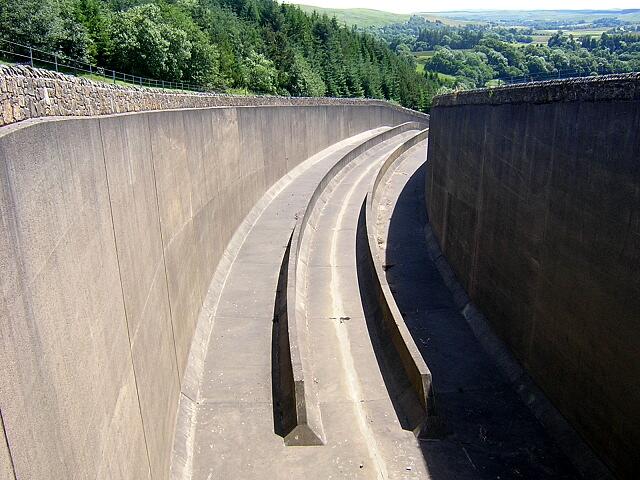 Spillway at Kielder Water Reservoir
