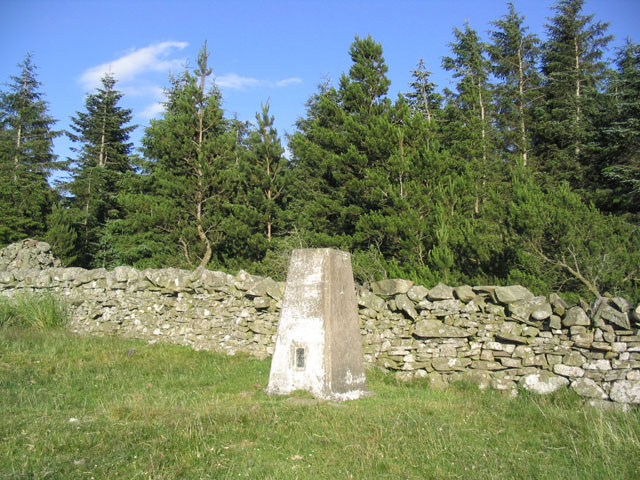 Trig Point on Meigle Hill