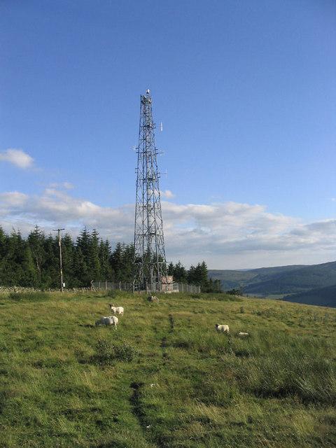 Radio Mast on Meigle Hill