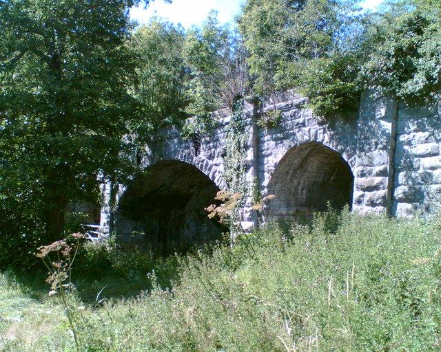 Disused railway bridge over the River Clwyd, 1 mile west of Bodfari.