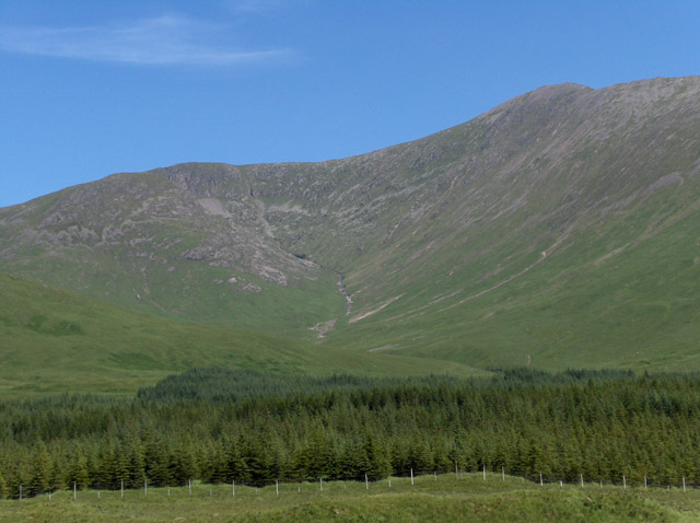 Forest and view into Coire Ghabhar