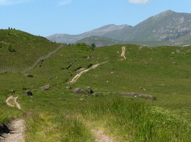 Track approaching Loch Dochard