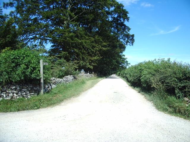 Public bridleway to White Stones